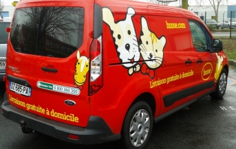 marquage husse sur ford transit connect